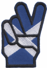 Scotland Saltire Victory V Embroidered Badge (a446)